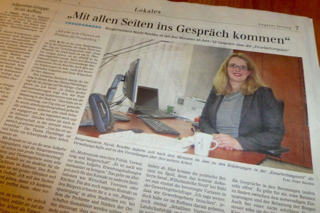 Im Siegener-Zeitung-Interview: