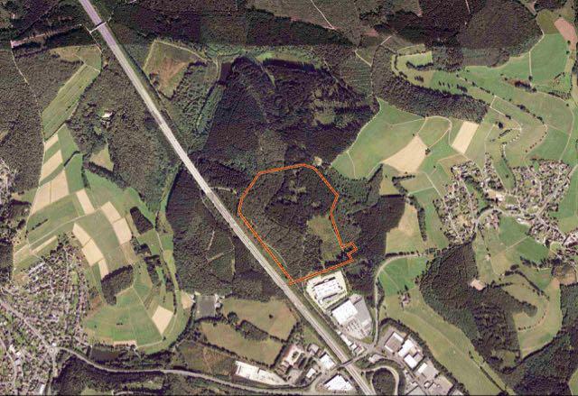 In Höhenlage zwischen Büschergrund und Bühl soll nach den Wünschen von IHK, Regionalrat und Stadt das neue Industriegebiet für störendes Gewerbe entstehen. (Repro: Foto-Prill, mit freundlicher Genehmigung veröffentlicht)